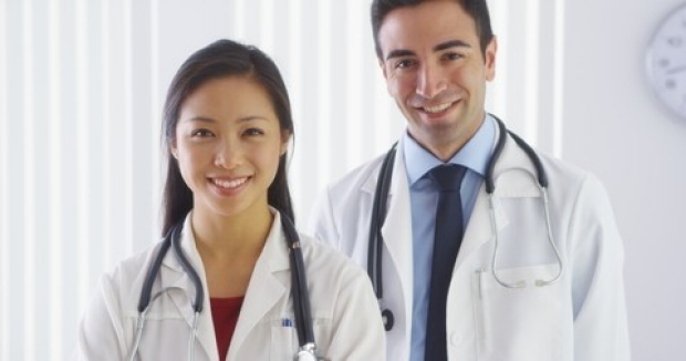smiling physicians